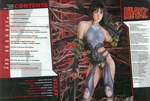 Heavy Metal July 09 TOC Spread by Battledress