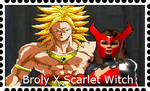 Broly X Scarlet Witch by WOLFBLADE111