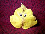 Happy Yellow Autumn Leaf! by MeadowDelights