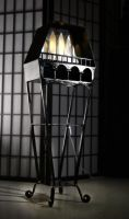 Coffin-Shaped Floor Lamp by Rajala