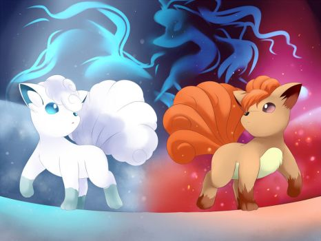 When Fire meets Ice: The path of Vulpix by YomiTrooper