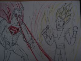 Erb :super-man vs goku by HINCAPIE319