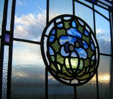 Stained Glass Thistle by rdwGlass