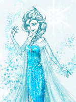 Elsa the Snow Queen by Urani-a