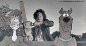 SCOOBY-DOO AND TEXAS CHAINSAW MASSACRE CROSSOVER by octopusdesenhos