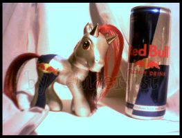 Taurina the RedBull pony by GingerFoxy
