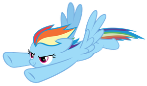 [Vector] Rainbow Dash's Race by luckydonald