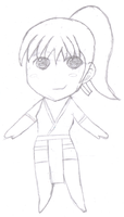 First Try - Chibi Kasumi Sketch by SilverMoonCrystal