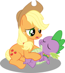 Applejack and Spike by PaulyVectors