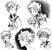 Adam sketches by teaspoons