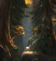 Pine Forest Sketch by allisonchinart