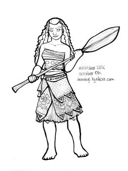 Inktober Day 8 - Moana by Drawings-By-Alicia