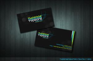 Typeone Prod. Business Card by SaintMichael