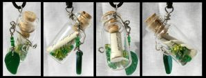 Green Scripture Bottle by GeneveveX