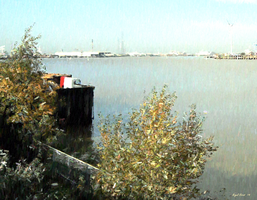 View of the Thames from Rosherville by Nigel-Hirst