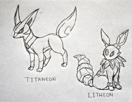 Project Fakemon: Titaneon and Litheon by XXD17