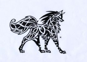 Celtic Wolf Tribal 2 by Skrayle