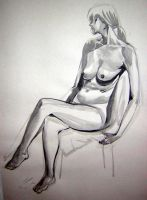 seated nude by huy-truong