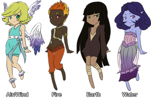 Adopts - Elements batch 1 (le closed pff) by grangerpixel