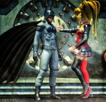 Batman and Harley Quinn by hiram67