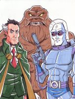 Ra's Al Ghul, Clayface and Mr. Freeze commission. by calslayton