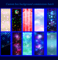 Custom Box Background Commissions Batch by Oce3D-Rainbow