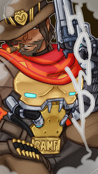 mccree by The-Blue-Deviant-Fox