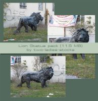 Lions statue pack by two-ladies-stocks
