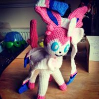 Sylveon Crochet Plush by Mr-Nova