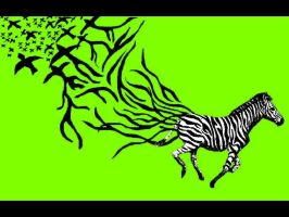 zebra wallpaper yellow green by butterflywisper