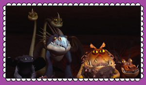HTTYD Group Dragon Fan Stamp by MorkelebTheDragon