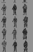 Early Concept - Class Silhouettes by musegames