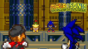 Mario and Sonic vs Bowser Jr and Metal Sonic by jmkrebs30