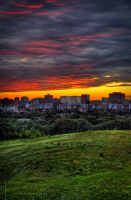 Ottawa Skyline and Sunset by TallJohn
