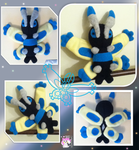Shiny Mothim Plushie :Sold: by Ami-Plushies