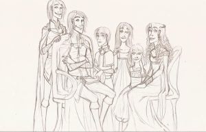 The Royal Family by time-well-wasted