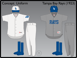 Tampa Bay Rays 1923 Uniform by JimmyNutini