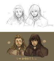 the hobbit - Fili and Kili by haleyhss