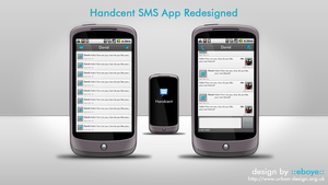 Handcent App Redesign PSDs by eboye