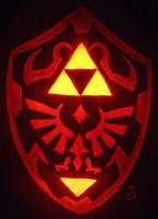Hylian Shield Pumpkin by johwee