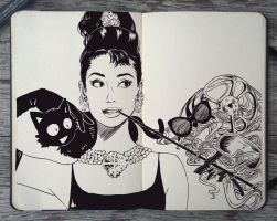 #124 Happy Bday Audrey Hepburn by Picolo-kun
