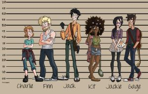 Character Line-up (2015) by LittleSpaceStars