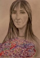 Portrait of a woman with flowers by MikkoChan