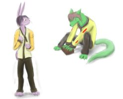 Dust: Moska and Reed by DragonGirl46