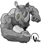 Rugby Rhino by JValle