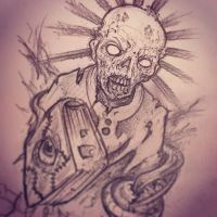 zombie with book by Rogercarter