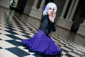 Darker than black - Silver haired doll by Paper-Doll89
