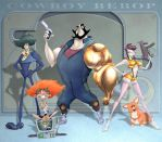 Cowboy Bebop Caricature by borogove13
