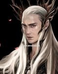 Thranduil with petals, head by evankart