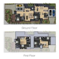 Architecture: Colour Floor Plan Render by cleanpix